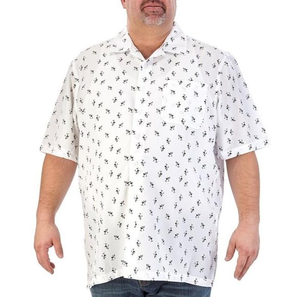 2fbd0ed145b Big   Tall Martini Print Button Down Shirt